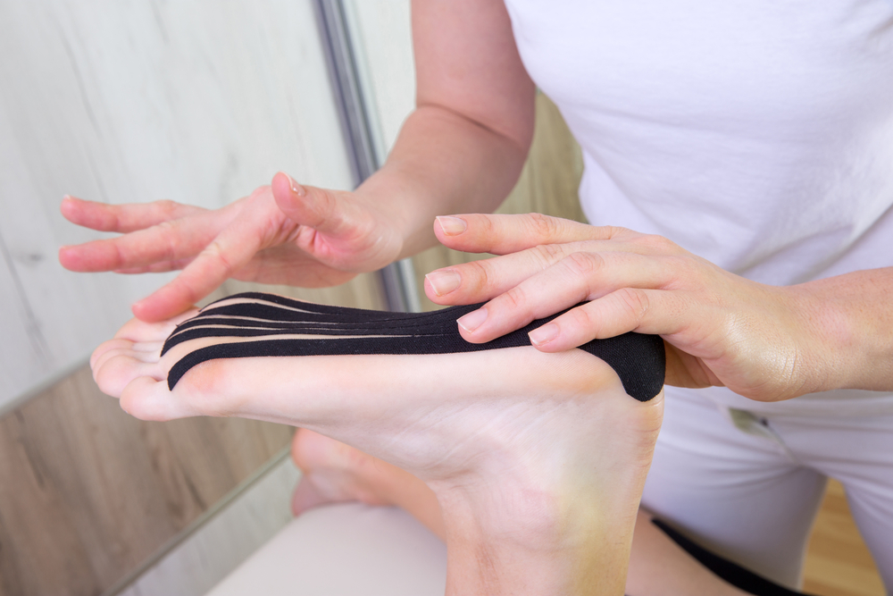 Therapeutic foot taping