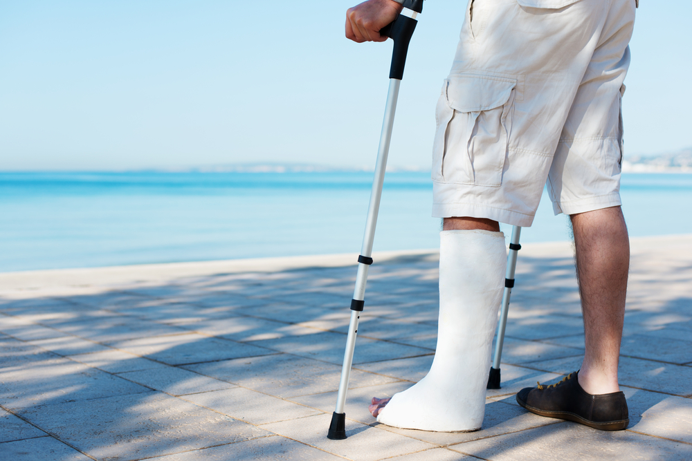 Training with a cast on your foot? It is possible!